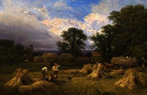 George Vicat Cole - Harvest time