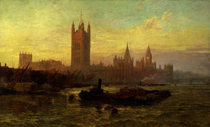 George Vicat Cole - The Palace of Westminster