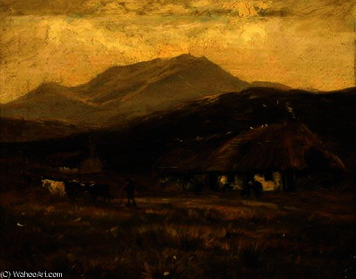 At kinlochewe by Henry Hadfield Cubley (1858-1934, United Kingdom)
