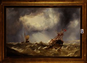 Henry Redmore - Dismasted in a Storm off ..