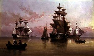 Henry Redmore - Evening shipping scene