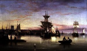 Henry Redmore - Hull from the Humber