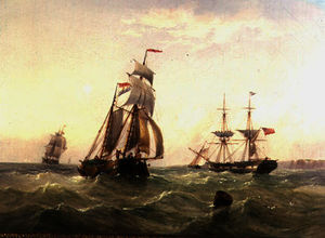 Henry Redmore - Vessels off a Coastline
