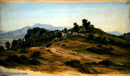 The Serpentara at Olevano,, 1824 by Joachim Faber (1778-1846, Germany)