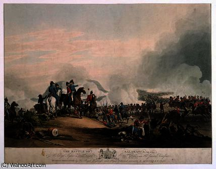 Battle of Salamanca, July 22, 1812 by John Augustus Atkinson (1775-1833, United Kingdom) | Painting Copy | ArtsDot.com