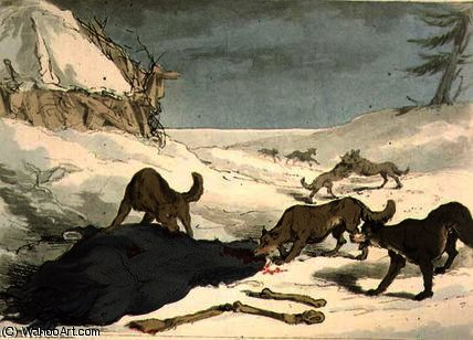 The wolf hunt by John Augustus Atkinson (1775-1833, United Kingdom) | Museum Art Reproductions | ArtsDot.com