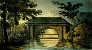 John Buonarotti Papworth - A Bridge and a Boat House..