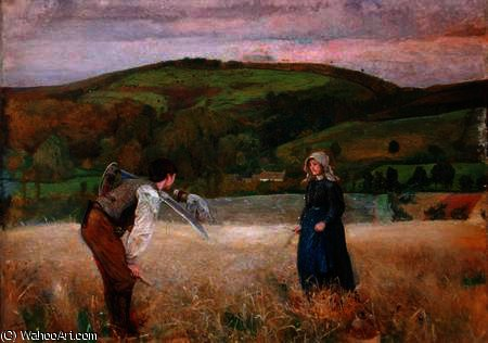 A Field of Barley by John William North (1842-1924, United Kingdom)
