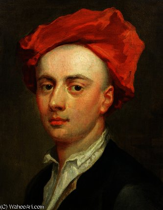 Portrait of John Gay , author of The Beggar's Opera by Jonathan Richardson (1667-1745, United Kingdom)