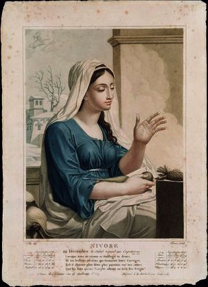 Nivose , fourth month of the Republican Calendar by Louis Lafitte (1770-1828, France)