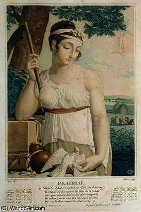 Prairial , ninth month of the Republican Calendar by Louis Lafitte (1770-1828, France)