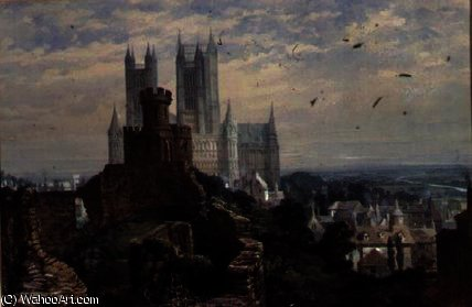 Lincoln Cathedral from the South by Louise Rayner (1832-1924, United Kingdom)