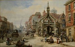 Louise Rayner - The Poultry Cross at Salisbury