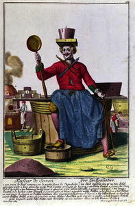 Martin Engelbrecht - The Soap Maker, c.1735 (colour..