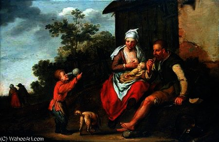 The Ironmonger and his family by Matthias Scheits (1630-1700, Germany) | Art Reproduction | ArtsDot.com