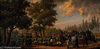 King Gustav III of Sweden and a Soldier, Episode by Pehr Hillestrom (1732-1816, Sweden)