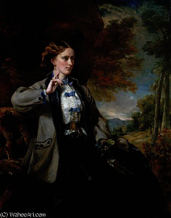 Buy Museum Art Reproductions : Portrait of the Hon. Mrs Meynell-Ingram by Francis Grant (1803-1878, United Kingdom) | ArtsDot.com