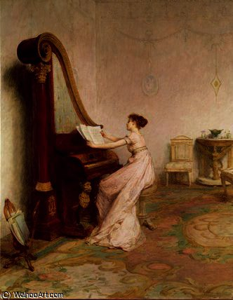 Music when soft voices die by William Quiller Orchardson (1832-1910, Scotland) | Museum Art Reproductions | ArtsDot.com