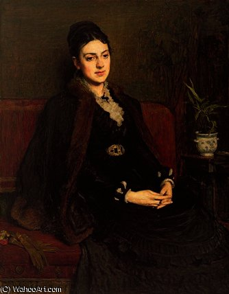 Portrait of Lady Orchardson by William Quiller Orchardson (1832-1910, Scotland) | Museum Quality Reproductions | ArtsDot.com