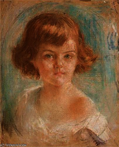 Young girl by Thalia Flora Karavia (1871-1960, Greece)