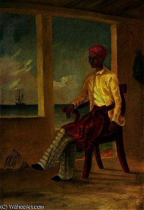A Malay native of Batavia at Copang by Thomas Baines (1820-1875, Norfolk)