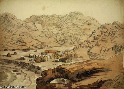 Hykainkop and natural bridge in the rock by Thomas Baines (1820-1875, United Kingdom) | ArtsDot.com