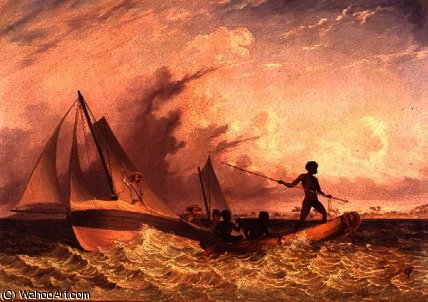 The messenger's long boat by Thomas Baines (1820-1875, United Kingdom)