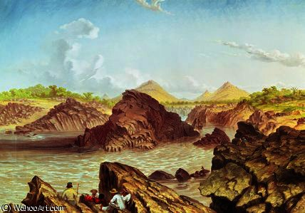 Three Channel Rapids above Kebrabasa on the Zambezi by Thomas Baines (1820-1875, United Kingdom)