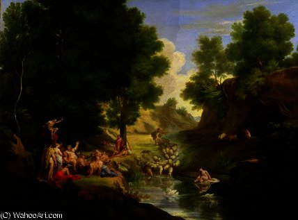 An Arcadian Landscape with Deities, c.1793 by Thomas Barker (1769-1847, United States)