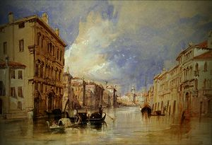Thomas Bush Hardy - Shipping off the Venetian Lago..
