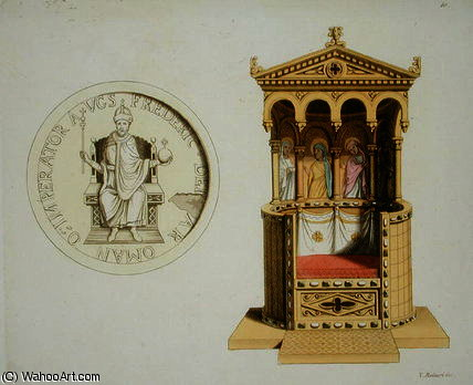Coin and throne of Frederick Barbarossa by Vittorio Raineri (1797-1869, Italy) | ArtsDot.com