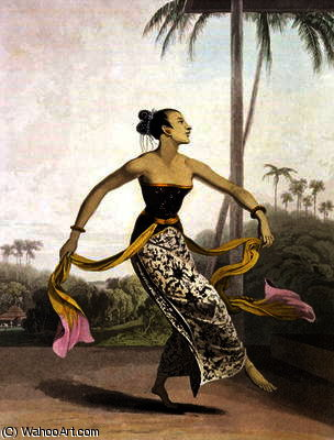 A Ronggeng or Dancing Girl by Thomas And William Daniell (1769-1837, United Kingdom)