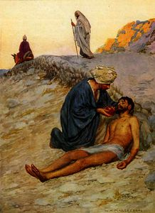 William Henry Margetson - The good samaritan