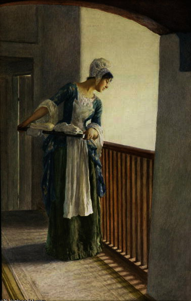 The laundry maid by William Henry Margetson (1861-1940, United Kingdom) | Art Reproduction | ArtsDot.com
