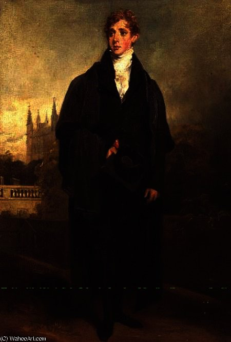 Portrait of Henry Townley standing in Academic dress, Merton College, Oxford possibly in, 1769 by William Owen (1769-1825, United Kingdom)