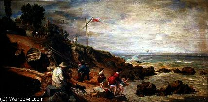 Sea View, Isle of Wight by William Parrott (1813-1869, United States)