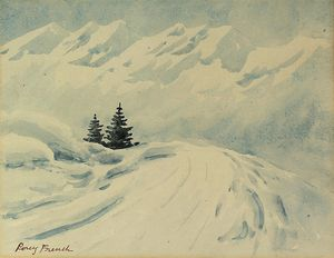 William Percy French - Alpine firs