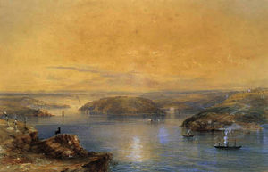 Conrad Martens - View from flagstaff hill, sydney, new south wales