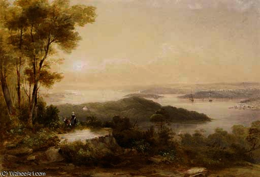 View from the north shore by Conrad Martens (1801-1878, United Kingdom) | Museum Art Reproductions | ArtsDot.com