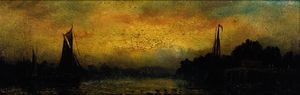 Adolphus Knell - Sunset; and sunrise