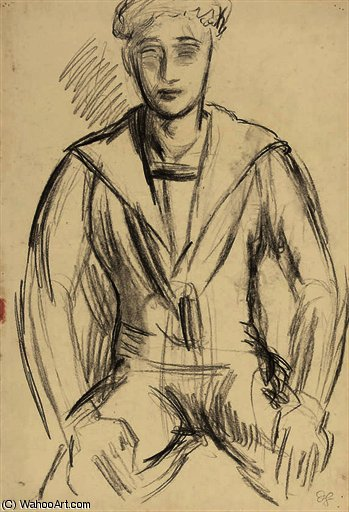 Paul roche in a sailor suit by Duncan Grant (1885-1978, Scotland)