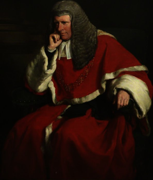 Sir william erle, lord chief justice by Francis Grant (1803-1878, United Kingdom) | Art Reproduction | ArtsDot.com