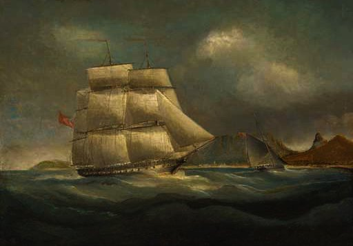An east indiaman in table bay by Thomas Baines (1820-1875, United Kingdom)