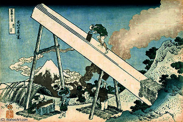 In the Mountain in Totomi Province by Katsushika Hokusai (1760-1849, Japan) | Art Reproduction | ArtsDot.com