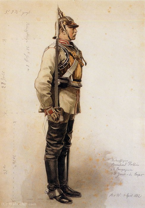 Garde du Corps Kürassier by Anton Von Werner (1843-1915, Germany) | Museum Quality Reproductions | ArtsDot.com