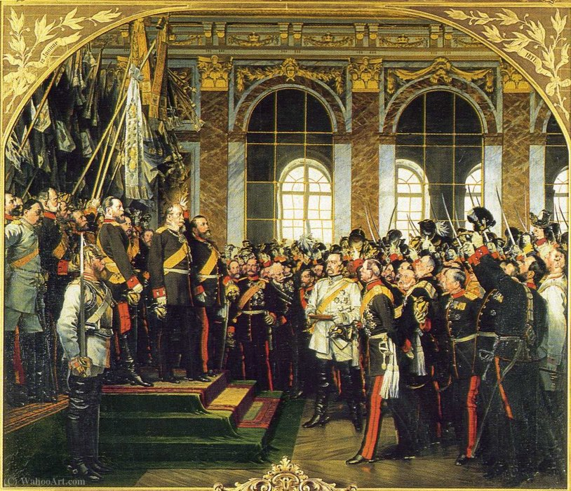 Kaiserproklamation in Versailles (1871) by Anton Von Werner (1843-1915, Germany) | Painting Copy | ArtsDot.com