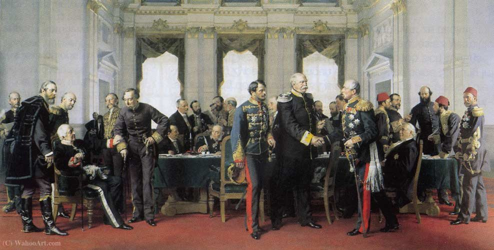 Berliner kongress by Anton Von Werner (1843-1915, Germany) | Painting Copy | ArtsDot.com