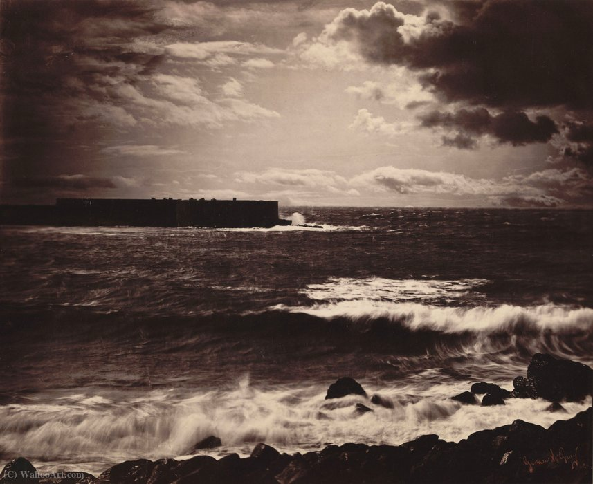 The great wave, sète by Gustave Le Gray (1820-1884)