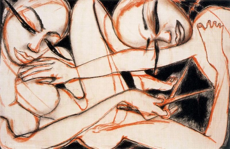 Untitled (709) by Francesco Clemente