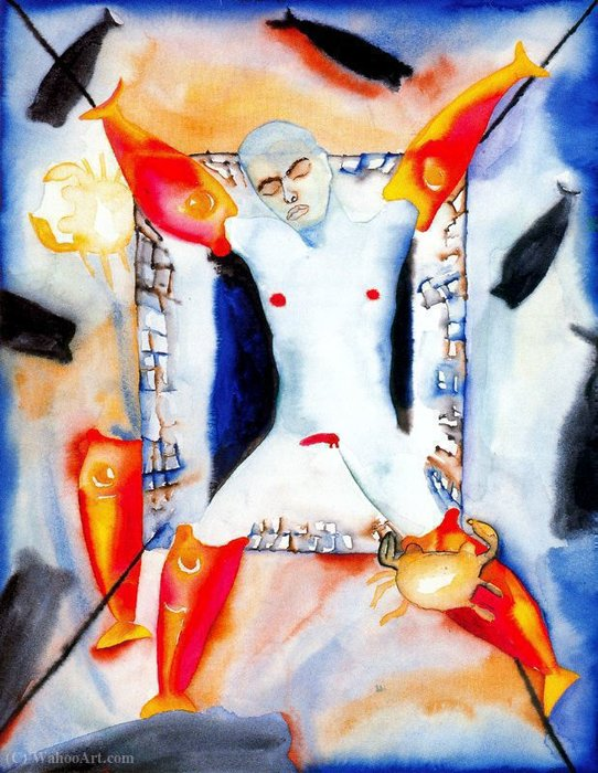 Untitled (888) by Francesco Clemente | Art Reproduction | ArtsDot.com